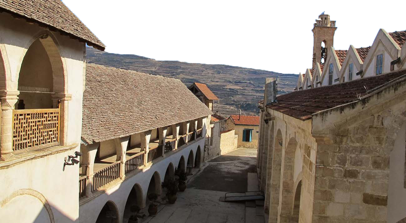 The Monastery of the Holy Cross in Omodos